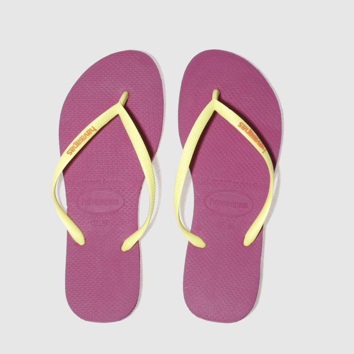 Havaianas Pink Slim Logo Sandals