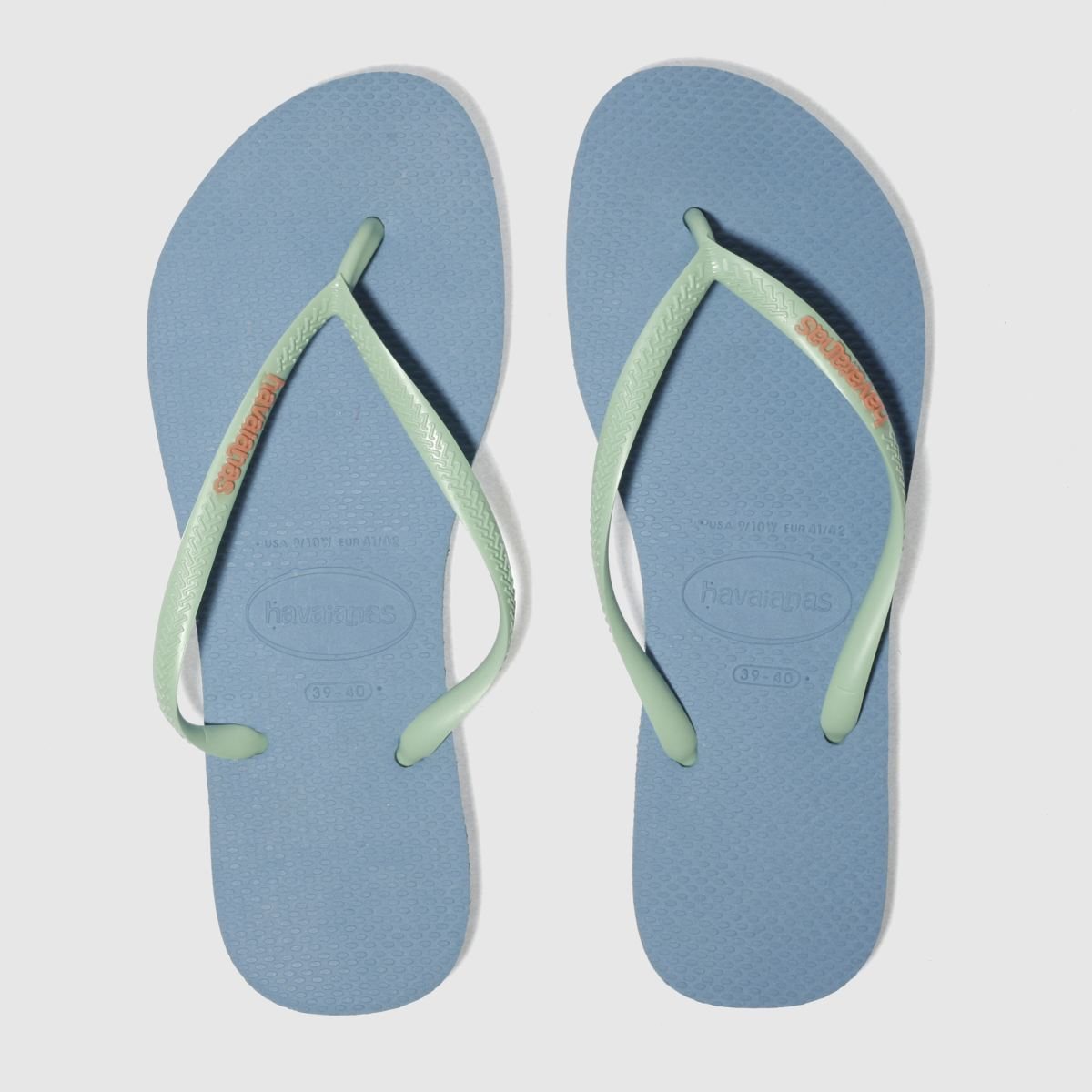 Havaianas Pale Blue Slim Logo Sandals