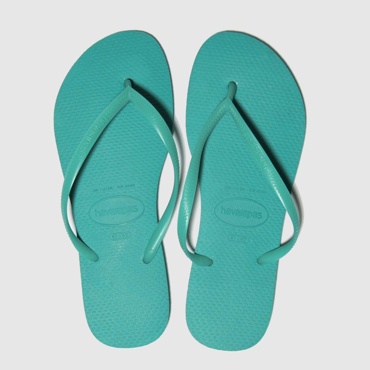 Havaianas Turquoise Slim Sandals