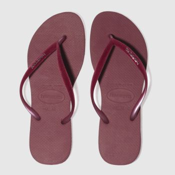 Havaianas Burgundy Slim Velvet Womens Sandals
