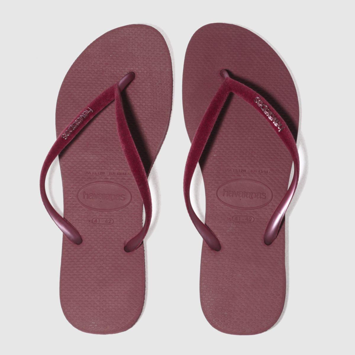 Havaianas Burgundy Slim Velvet Sandals