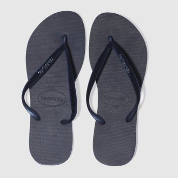 Havaianas Navy Slim Velvet Womens Sandals