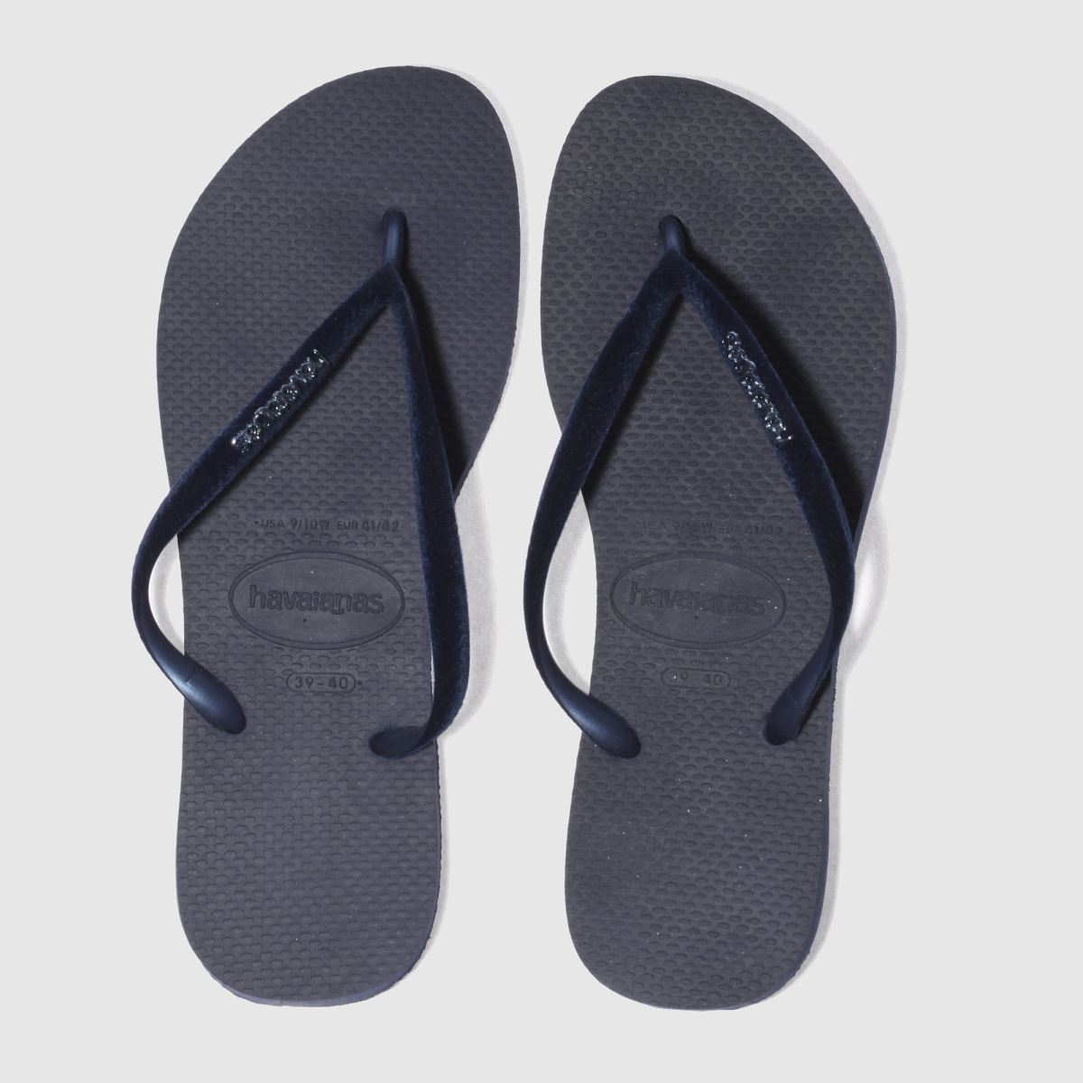 Havaianas Navy Slim Velvet Sandals