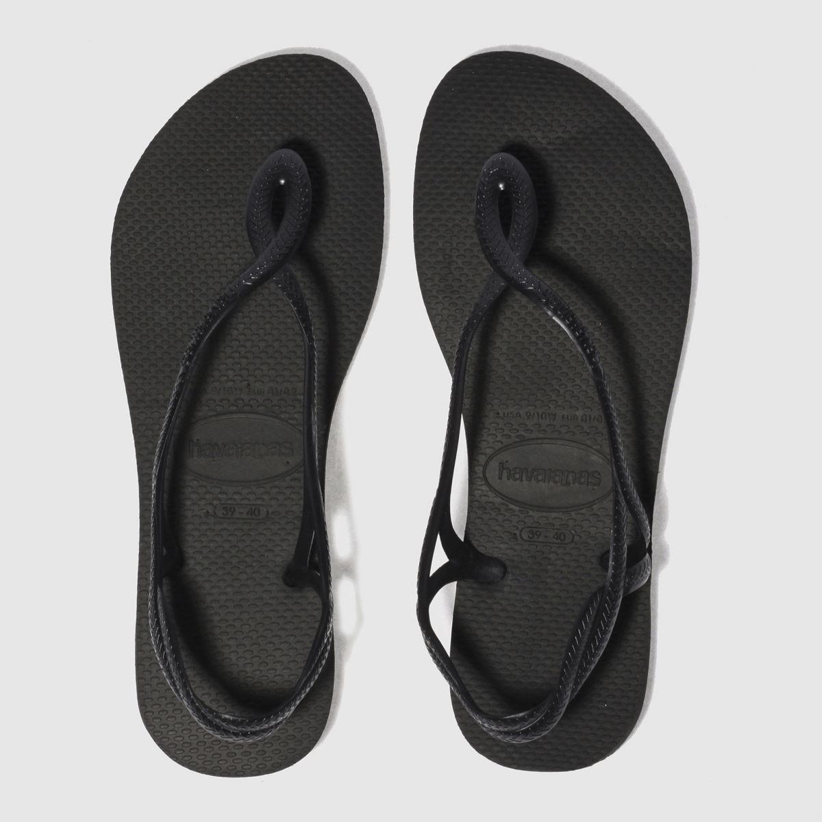 Havaianas Black Luna Sandals