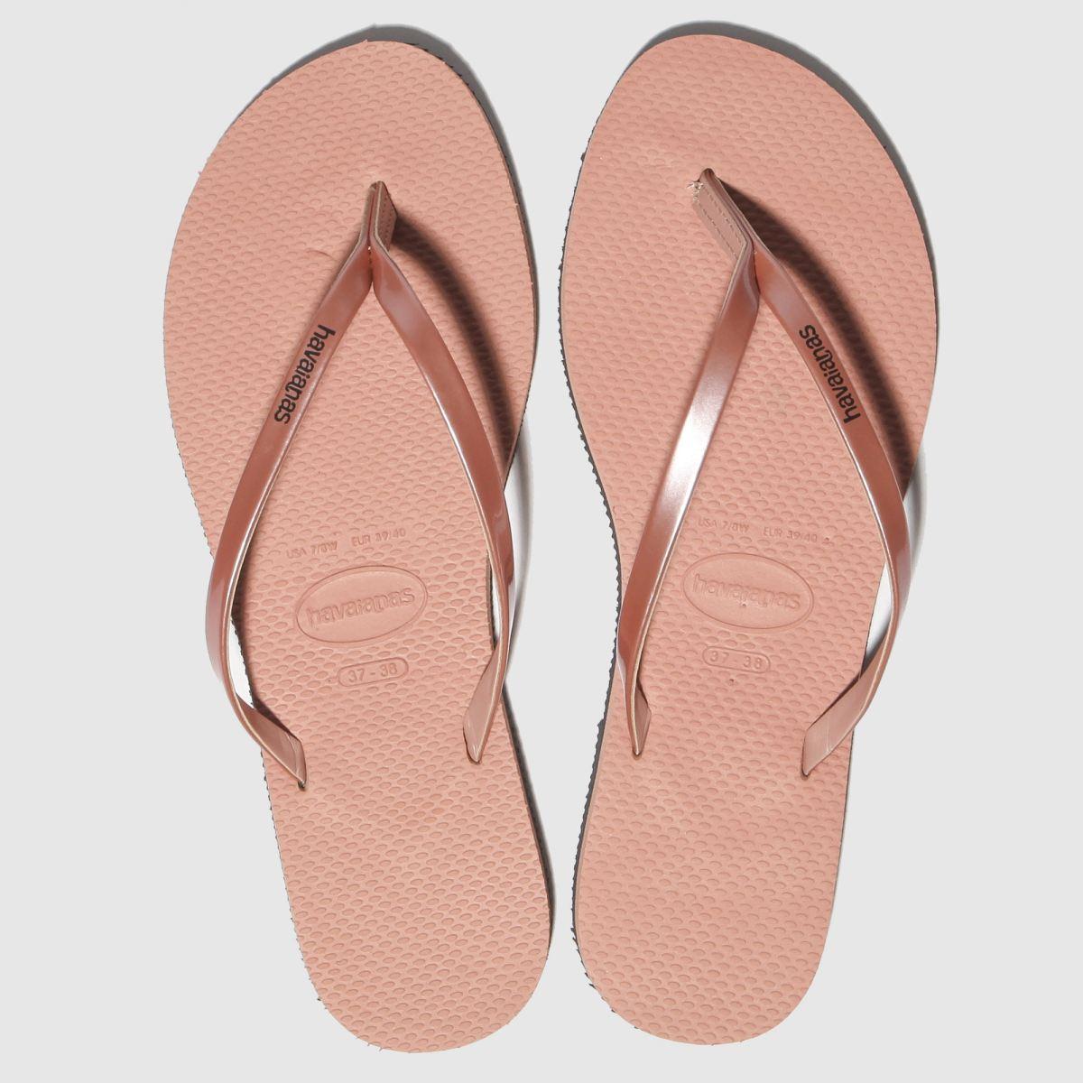 Havaianas Pink You Metallic Sandals
