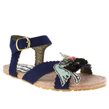 Navy & White Irregular Choice Pretty Pony Sandal