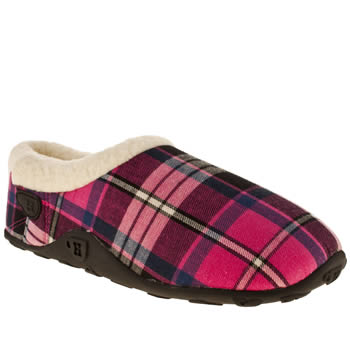 womens homeys black & pink ava slipper slippers