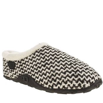 Homeys White & Black Mia Zig Zag Slippers