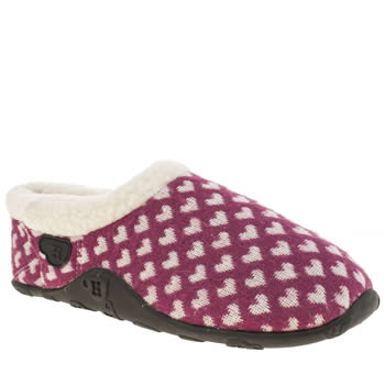 Homeys White & Burgundy Honey Slippers