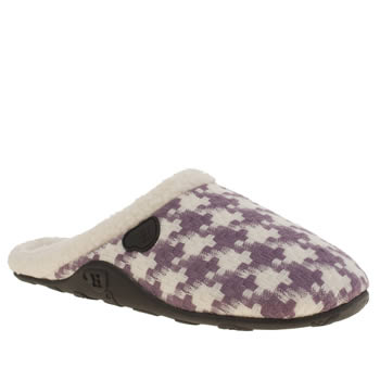 Homeys White & Purple Flo Slippers