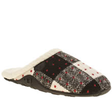 Homeys Black & White Evie Womens Slippers