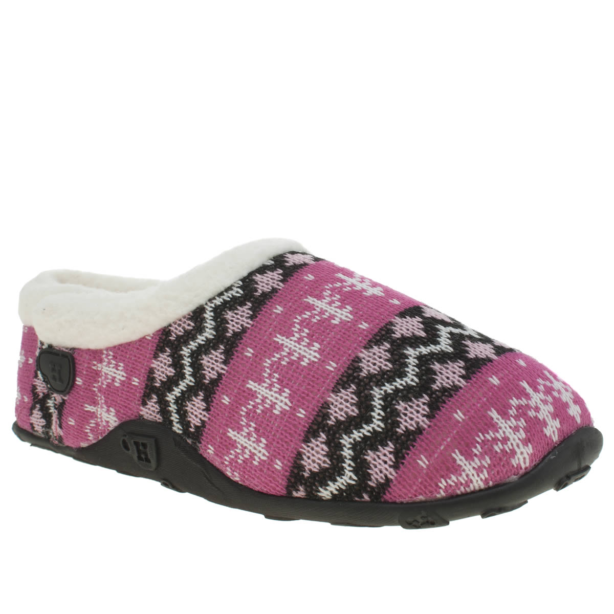 Homeys Homeys Black & Pink Trudie Slippers