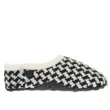 Homeys Black & White Mags Womens Slippers