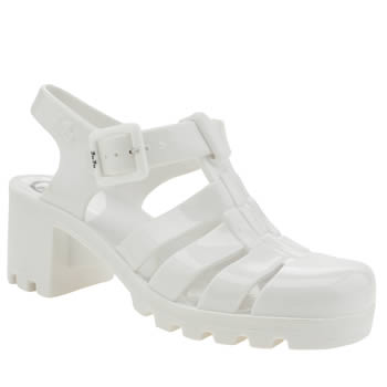 Womens Juju Jellies White Babe Sandals