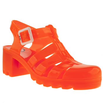 womens juju jellies orange babe sandals