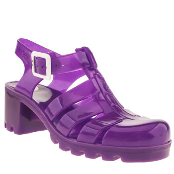 womens juju jellies purple babe sandals