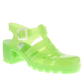 Juju Jellies Green Babe Sandals