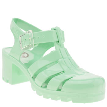 Womens Juju Jellies Light Green Babe Sandals
