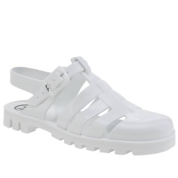 Juju Jellies White Maxi Sandals