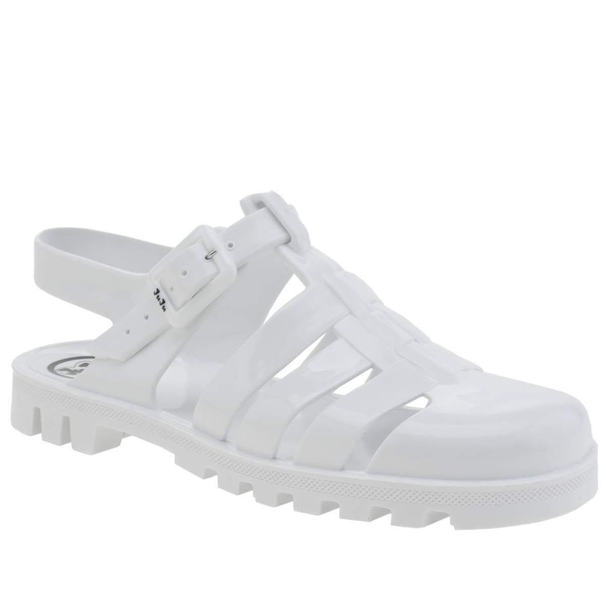 juju jellies Juju Jellies White Maxi Sandals