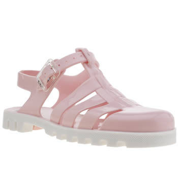 Womens Juju Jellies White & Pink Maxi Sandals