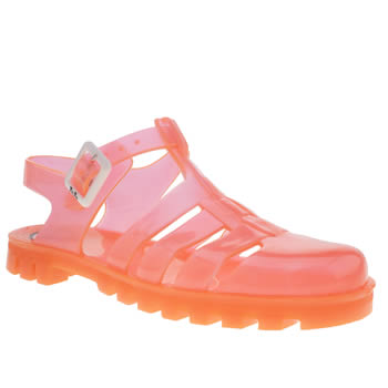 Womens Juju Jellies Orange Maxi Sandals