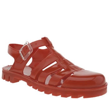 Womens Juju Jellies Red Maxi Sandals