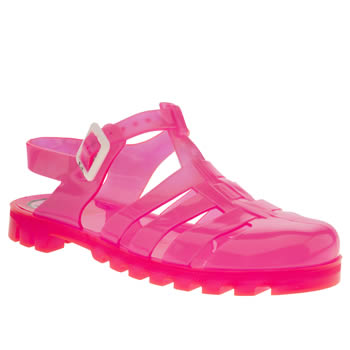 womens juju jellies pink maxi sandals
