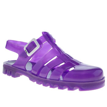 Womens Juju Jellies Purple Maxi Sandals