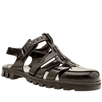 Womens Juju Jellies Black Maxi Sandals