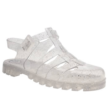 Womens Juju Jellies Silver Maxi Sandals