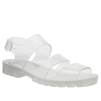 Juju Jellies Clear Daisy Sandals