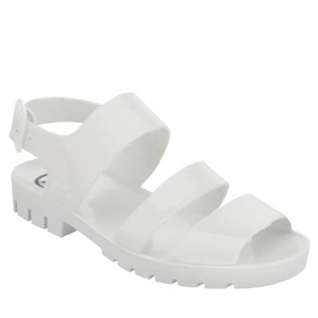 Juju Jellies White Daisy Sandals