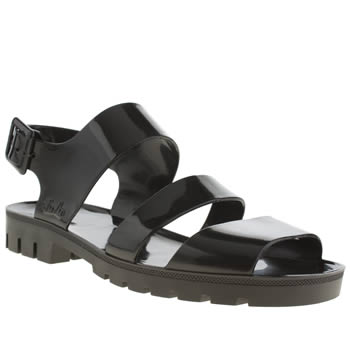 Womens Juju Jellies Black Daisy Sandals