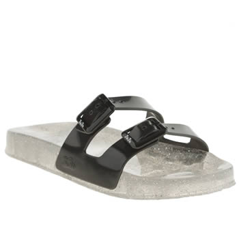 Womens Juju Jellies Black Erin Sandals