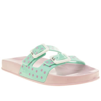Womens Juju Jellies Light Green Erin Sandals