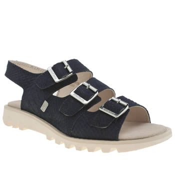 Kickers Navy Trisandal Sandals