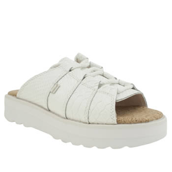 Kickers White Lite Mule Womens Sandals