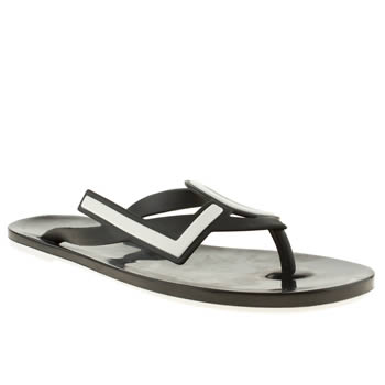Womens Mel Black & White Love City Sandals