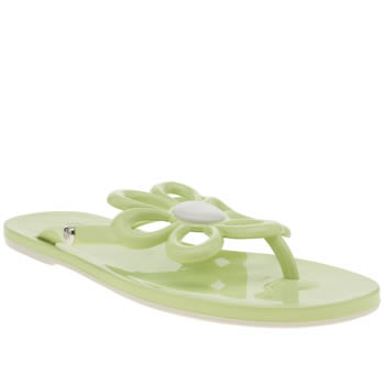 Womens Mel Light Green Flower Sandals