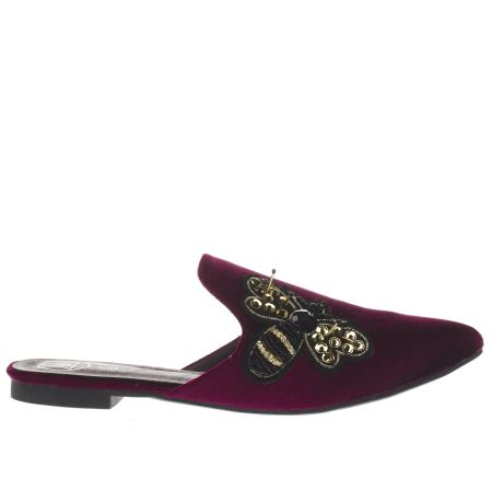 missguided embroidered bee mule 1
