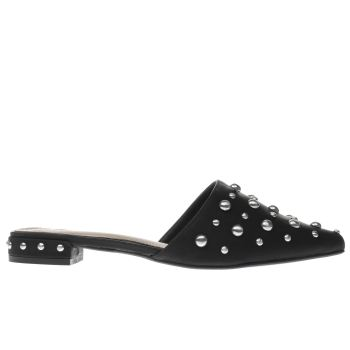 Missguided Black All Over Studded Point Womens Sandals