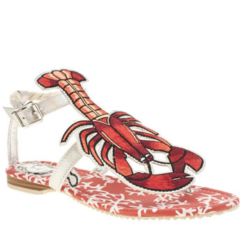 Womens Miss L-Fire Red Rock Lobster Sandals