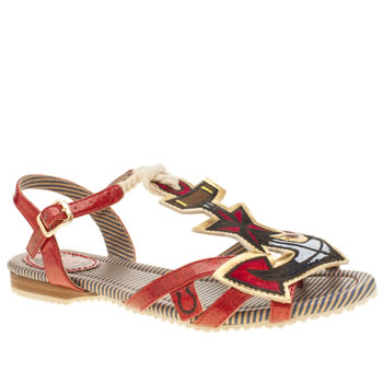 Miss L-Fire Red Anchors Aweigh Sandals