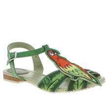 Miss L-Fire Green Polly Parrot Womens Sandals