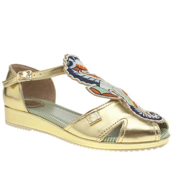 Miss L-Fire Gold Seahorse Sandals