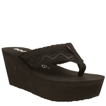 Rocket Dog Black Diver Lima Crochet Sandals