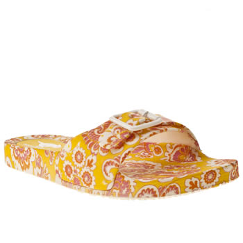 Rocket Dog White & Pink Blossom Paisley Sandals