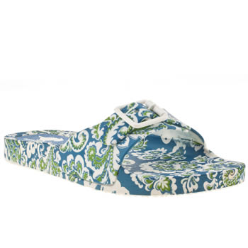Womens Rocket Dog White & Blue Blossom Paisley Sandals