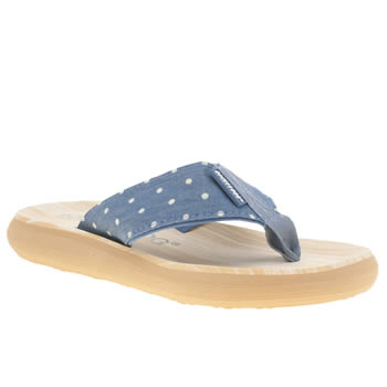 Rocket Dog Navy & White Sunset Chambray Dot Sandals